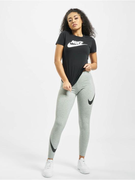 Nike Essential Icon Futura T Shirt BlackWhite