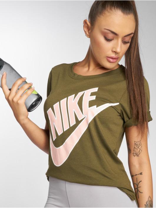 Nike t-shirt NSW Top SS Prep Futura olijfgroen