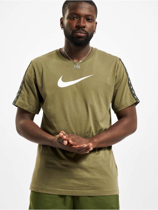 Nike t-shirt Repeat olijfgroen