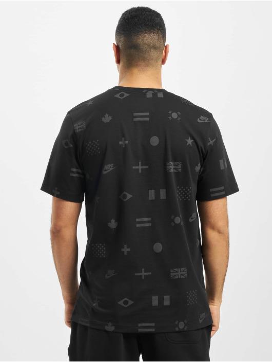Nike T-Shirt Preheat AOP schwarz