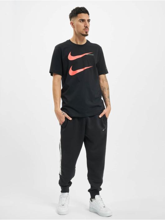 Nike T-Shirt Swoosh PK 2 schwarz