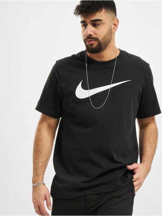 Nike T-Shirt Swoosh schwarz