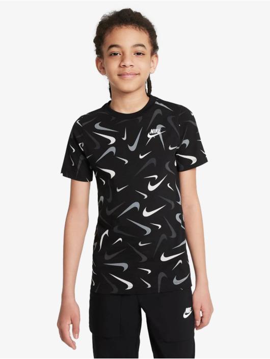 Nike T-Shirt Swoosh Aop schwarz