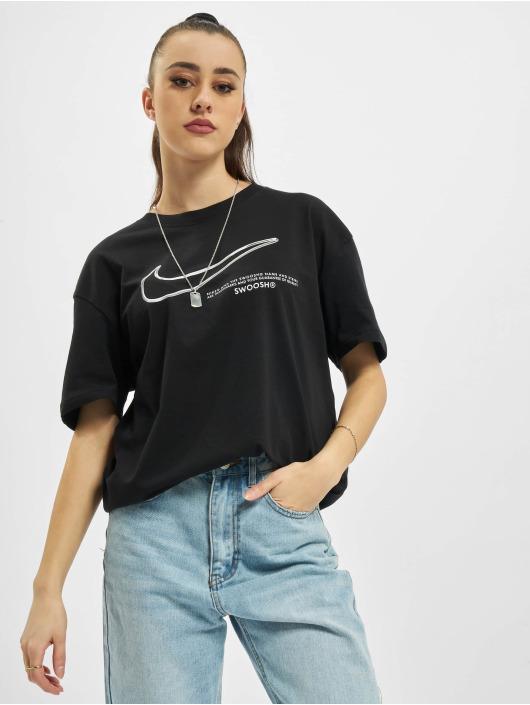 Nike T-shirt Boy Swoosh svart