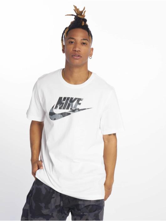 Nike T-Shirt Camou weiß