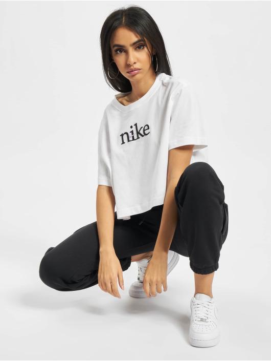 Nike T-Shirt Crop Craft weiß