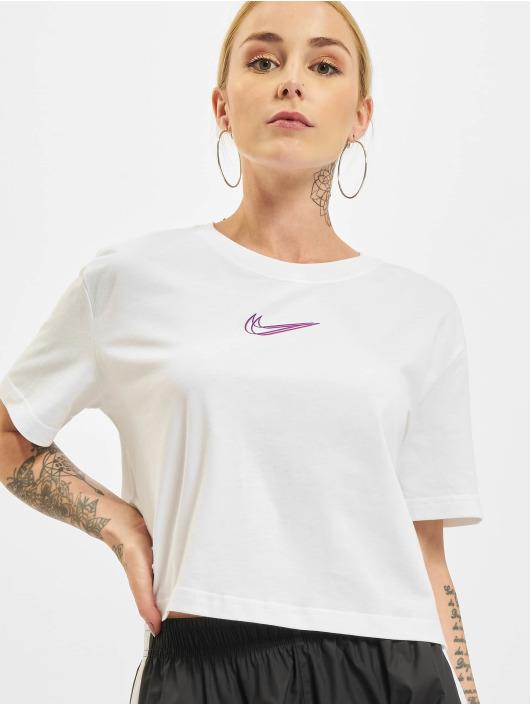 Nike T-Shirt Crop weiß