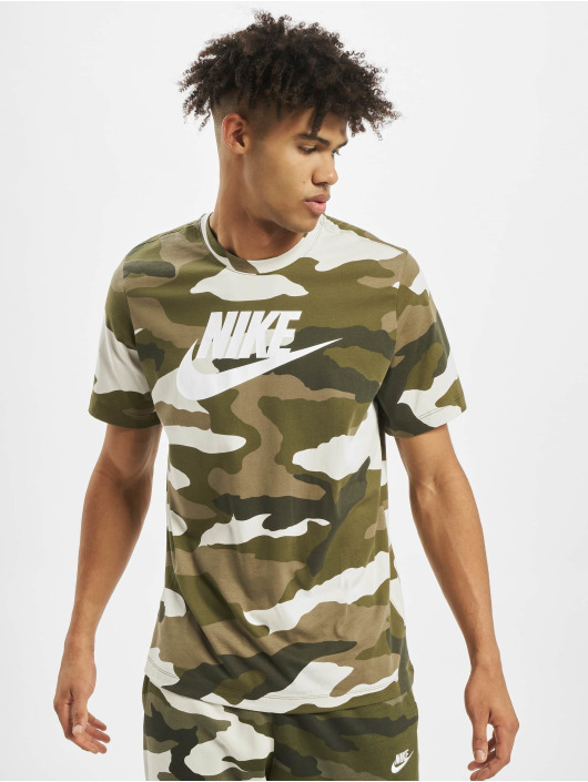 Nike T-Shirt Camo 1 white