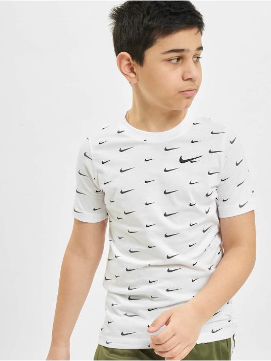 Nike T-Shirt Swoosh AOP white