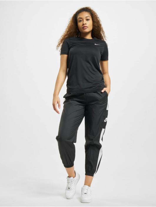 Nike t-shirt W Nk Df Leg Crew zwart