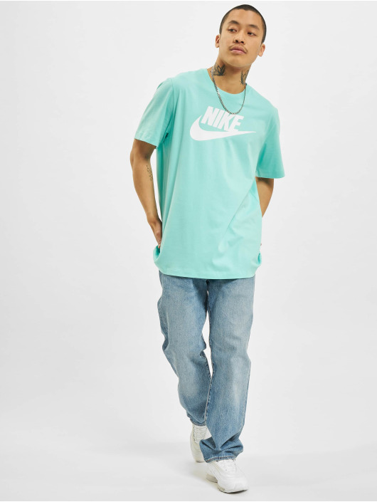 Nike T-shirts Icon Futura turkis