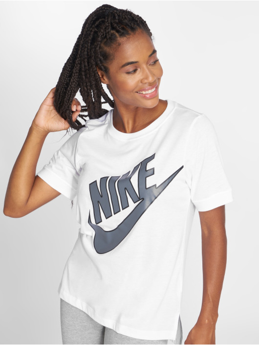 Nike T-Shirty NSW Top SS Prep Futura bialy