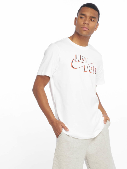 Nike T-Shirty JDI bialy