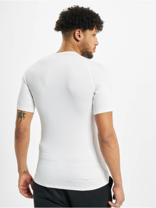 Nike T-Shirty Pro Short Sleeve Tight bialy