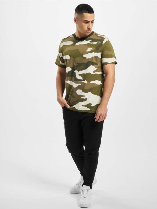 Nike T-Shirty Camo AOP bialy