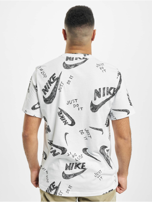 Nike T-Shirty AOP bialy