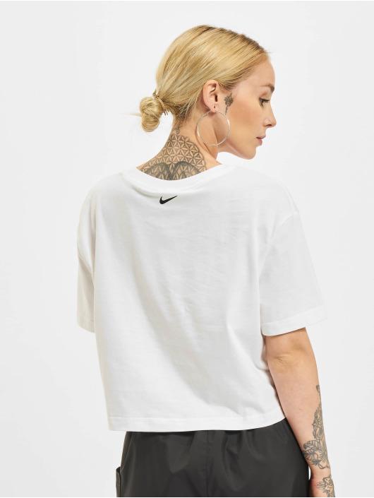 Nike T-Shirty Crop bialy