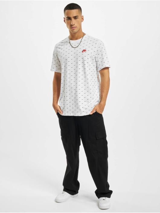 Nike T-Shirty Mini Swoosh bialy
