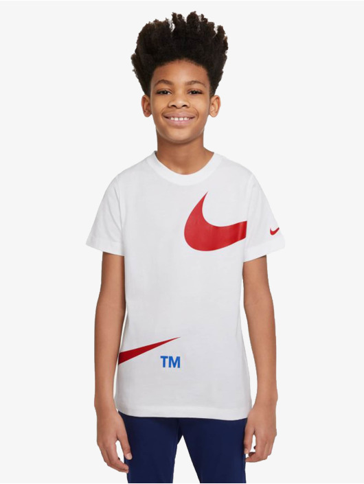 Nike T-Shirty Swoosh Pack bialy