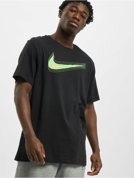 Nike T-Shirty M Nsw Swoosh 12 Month czarny