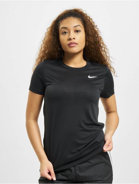 Nike T-Shirty W Nk Df Leg Crew czarny
