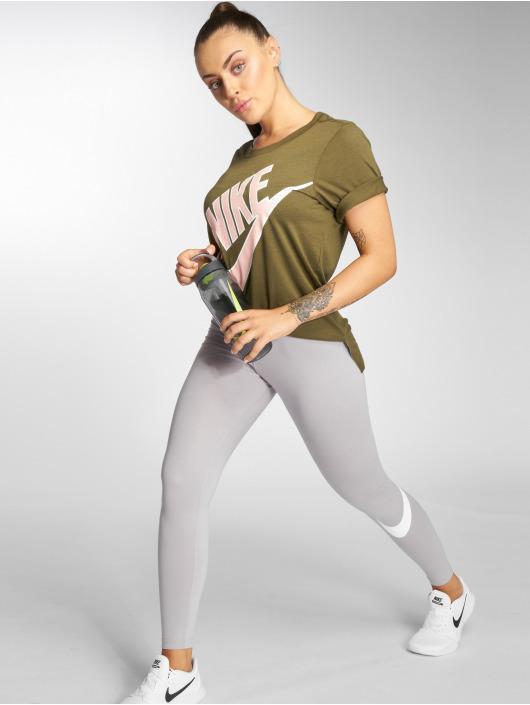 Nike T-Shirty NSW Top SS Prep Futura oliwkowy