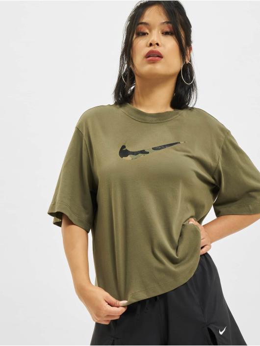 Nike T-Shirty Boxy One oliwkowy