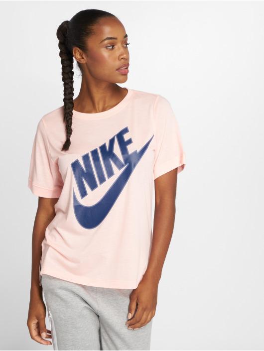 Nike T-Shirty NSW Top SS Prep Futura rózowy