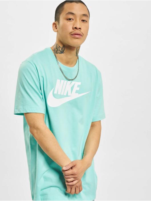 Nike T-Shirty Icon Futura turkusowy