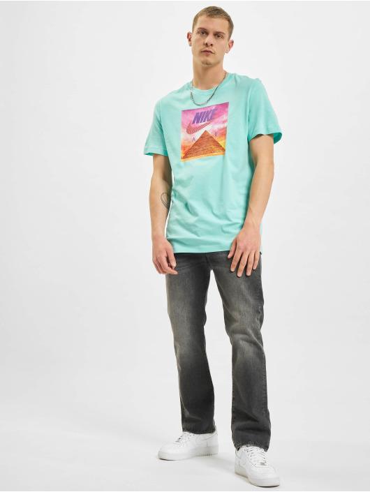Nike T-Shirty Festival Photo turkusowy