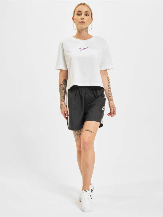 Nike T-skjorter Crop hvit