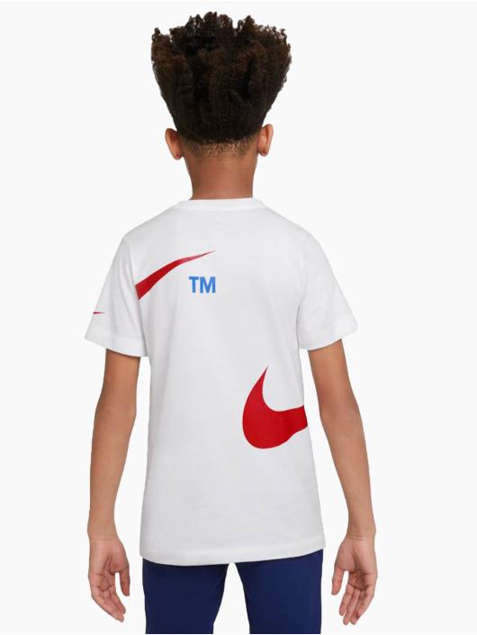 Nike T-skjorter Swoosh Pack hvit