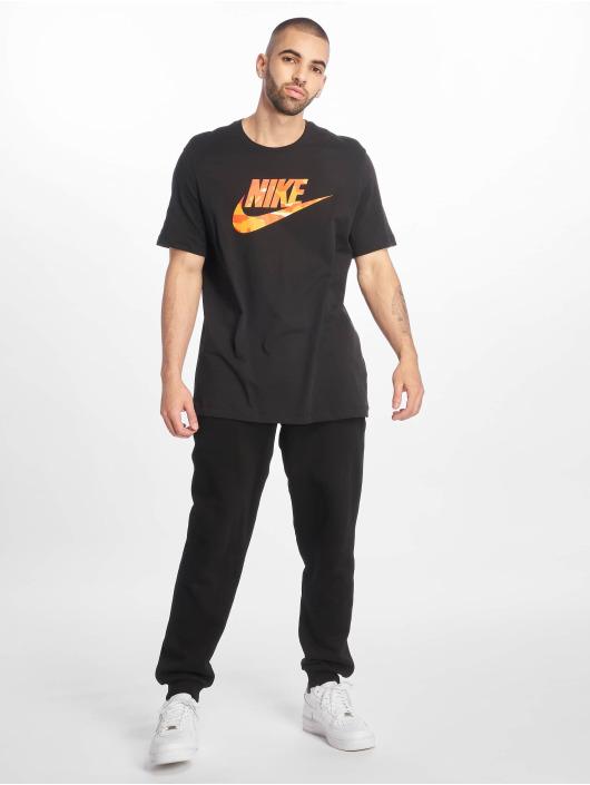 Nike T-skjorter Camo 1 svart
