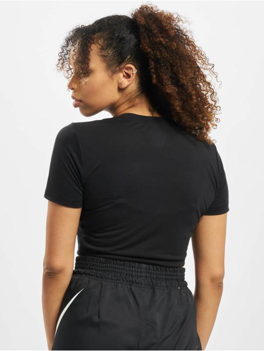 Nike T-skjorter Slim Crop LBR svart