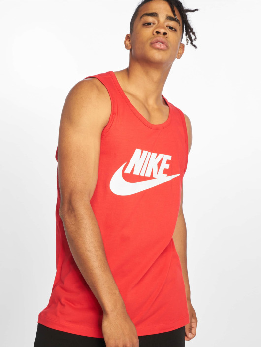 Nike Tank Tops Icon Futura èervená