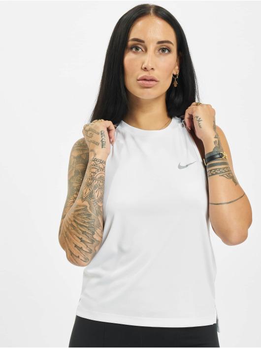Nike Tank Tops Dri Fit bialy