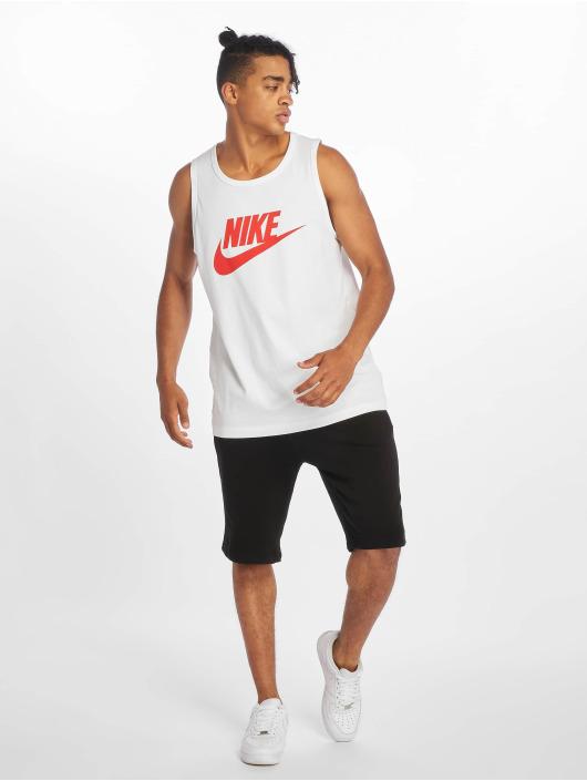 Nike Tank Tops Icon Futura biela