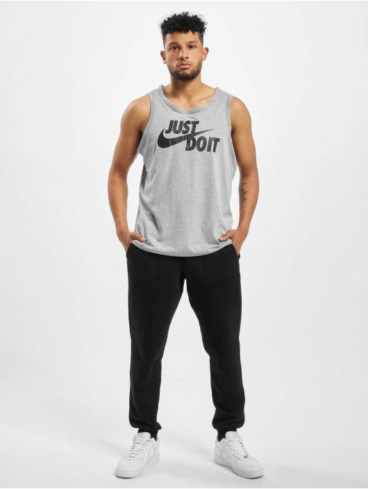 Nike Tank Tops Just Do It Swoosh harmaa