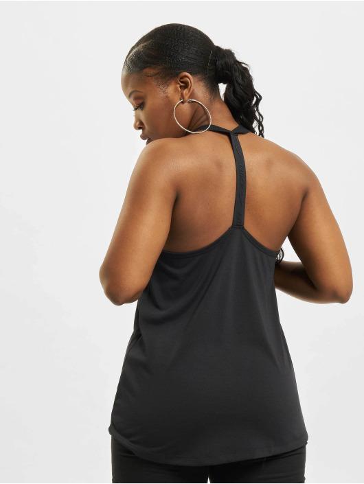 Nike Tank Tops W Nk Dry Ess Elastika schwarz