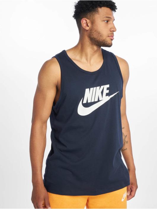 Nike Tanktop Icon Futura blauw