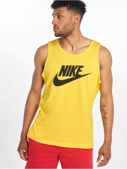 Nike Tanktop Icon Futura geel