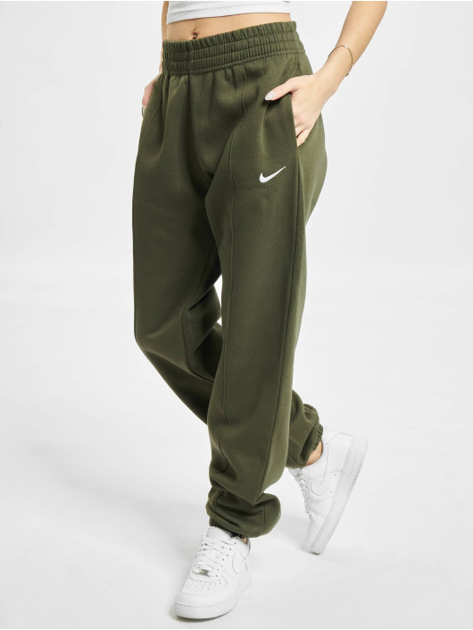 Nike tepláky W Nsw Essntl Flc Hr Pnt Clctn kaki