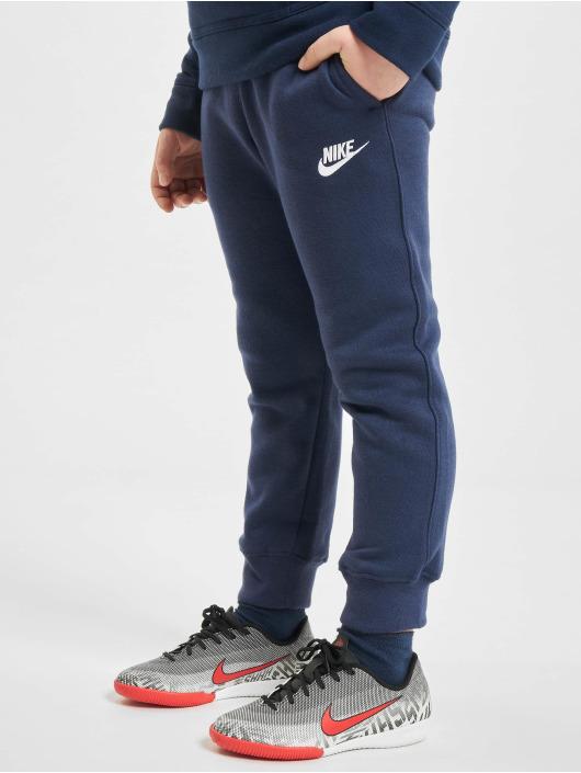 Nike tepláky Club Fleece Rib Cuff modrá