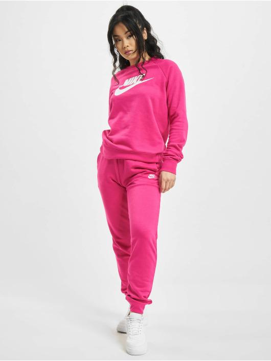 Nike tepláky Essential Regular Fleece pink