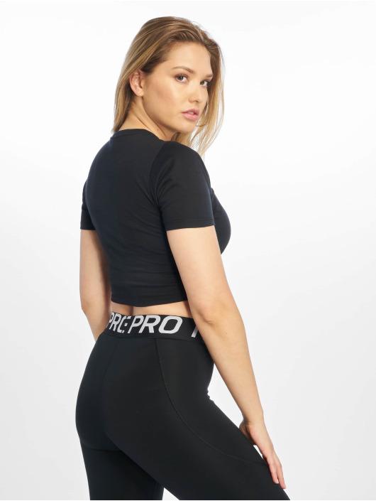 Nike Top Essential SS Crop schwarz