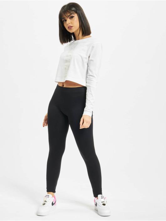 Nike Top LS Lux 3 Crop weiß