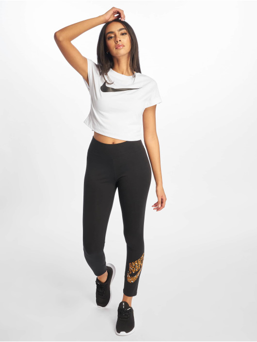 Nike Top Swoosh Crop Top SS white