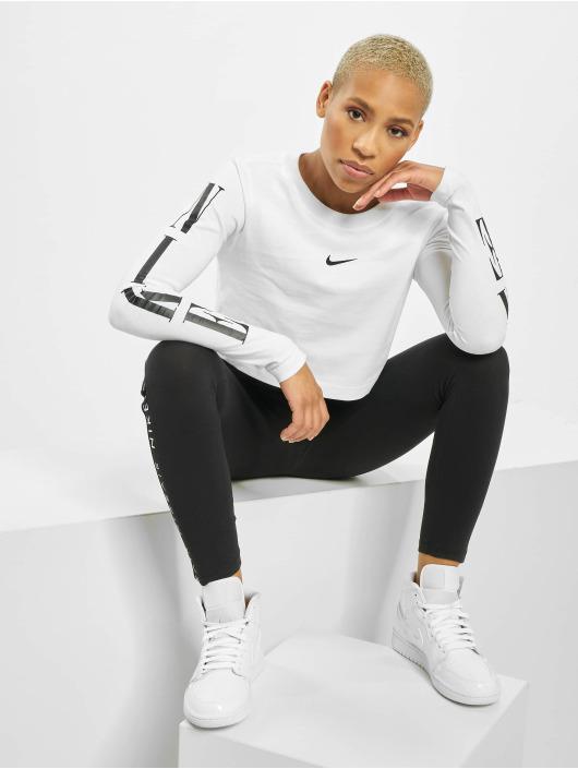 Nike Top LS Crop STWR 2 white