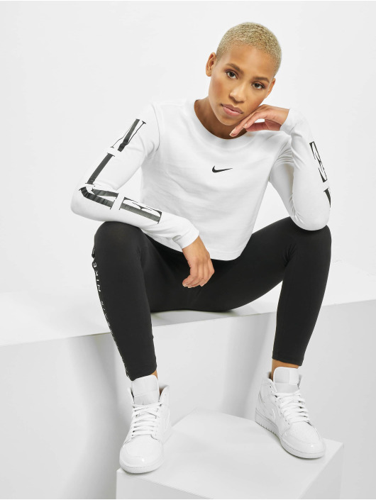 Nike Topper LS Crop STWR 2 hvit