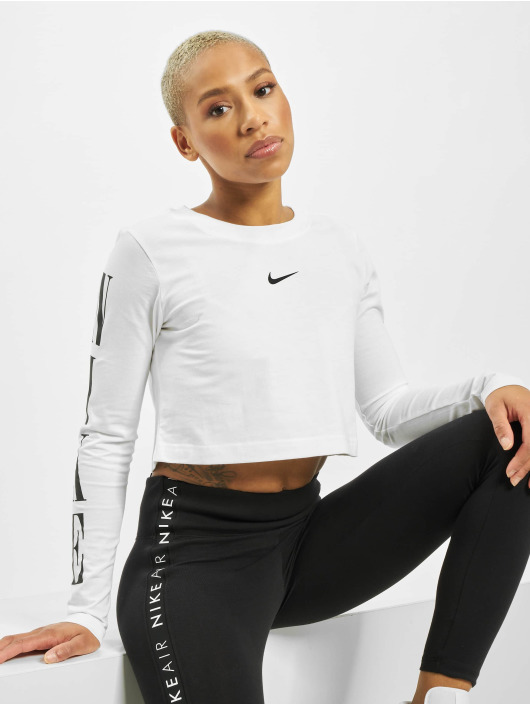 Nike Tops LS Crop STWR 2 bialy